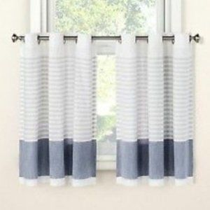 Project 62 Target Blue Gray Stripe Tier Curtains